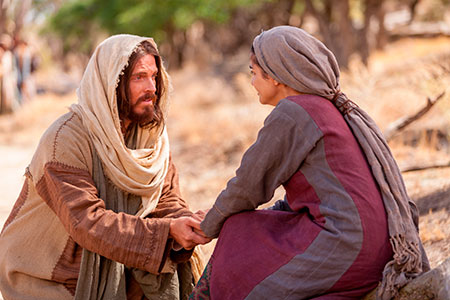 Yeshua and woman